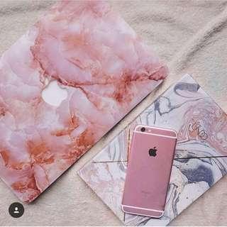 Marble Rose Pink MacBook Case