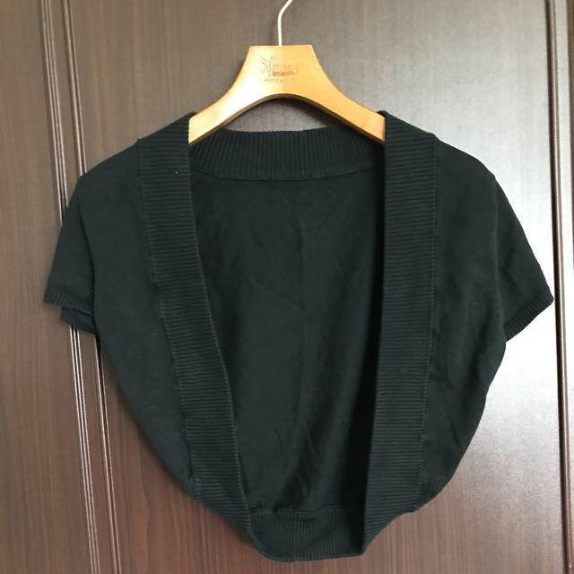 黑色針織小外套