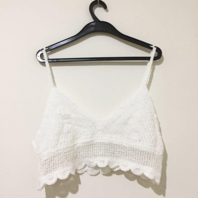 白色針織無袖罩衫