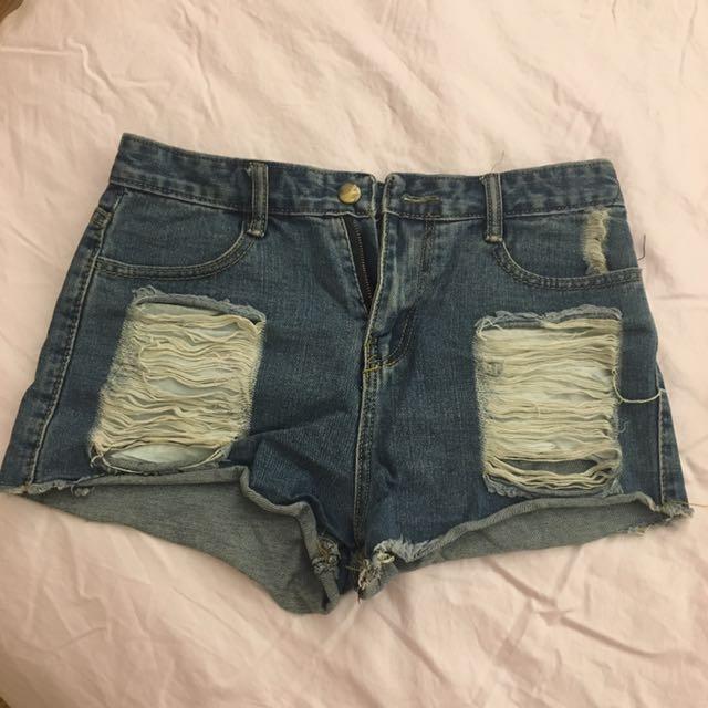 破壞瘋牛仔短褲