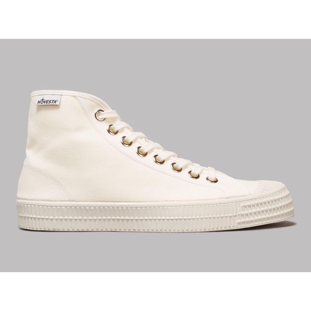 歐洲品牌 Novesta 全白低筒帆布休閒鞋  24/37 韓