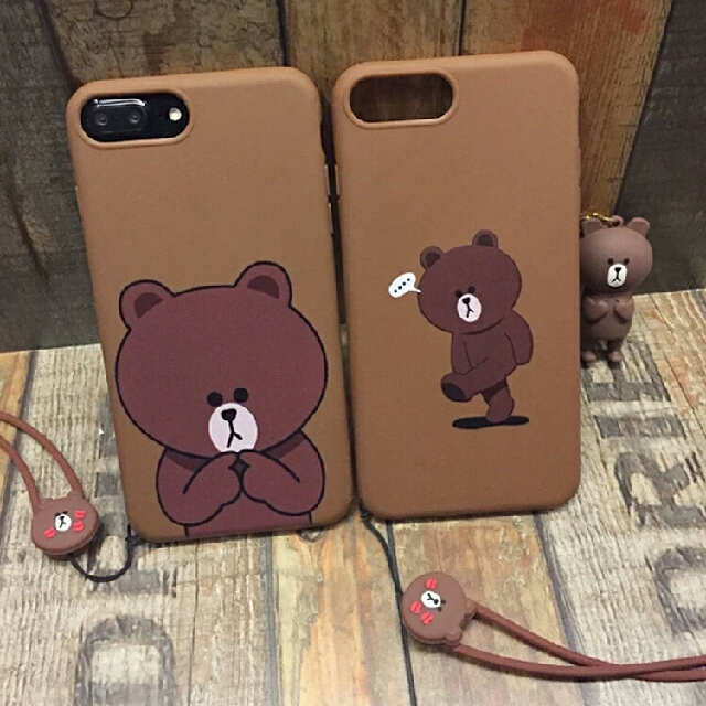 more photos 41992 cf2da ⚠ Pre-order!! Mr Brown Line Bear Phone Cover (Now For iPhone 6, 6S Plus, 7  and 7 Plus & OPPO R9, OPPO R9 Plus, OPPO R9s & OPPO r9s Plus)