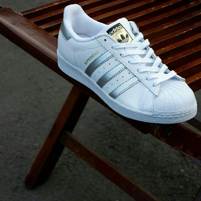 adidas superstar white/silver