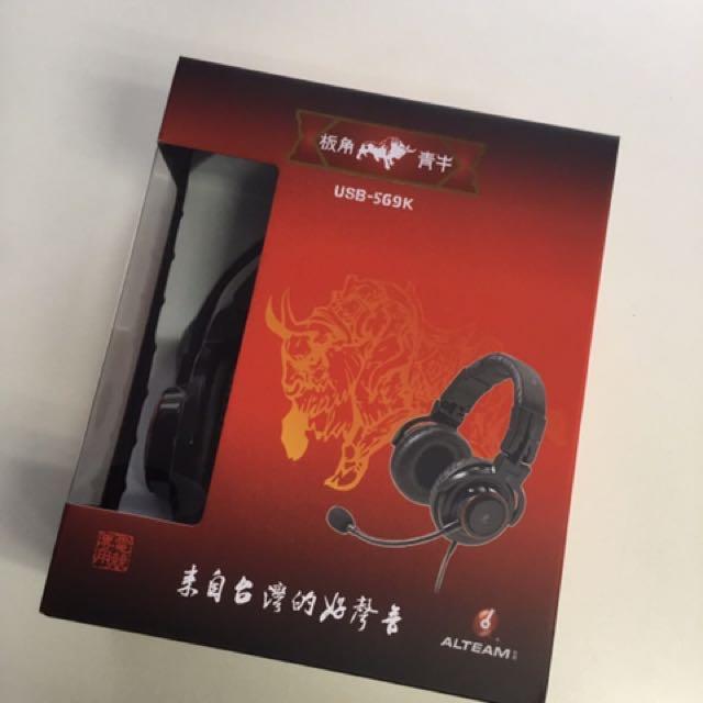 ALTEAM USB-569K板角青牛電競耳麥