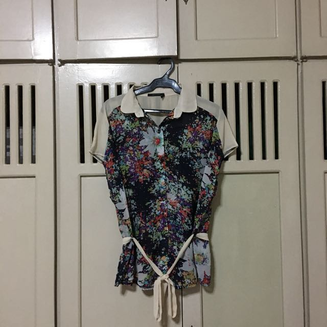 Apple and Eve Floral Sheer Blouse