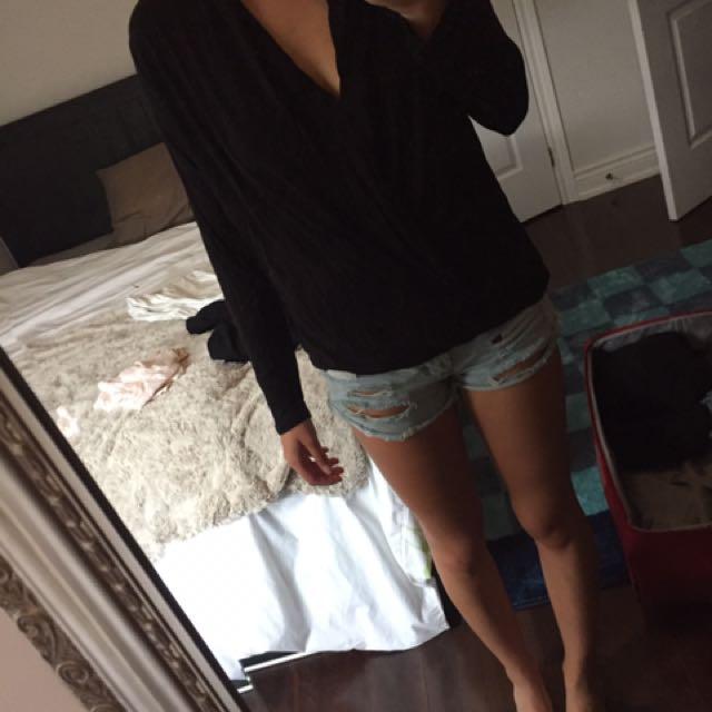 Aritzia Babaton Cross Over Shirt