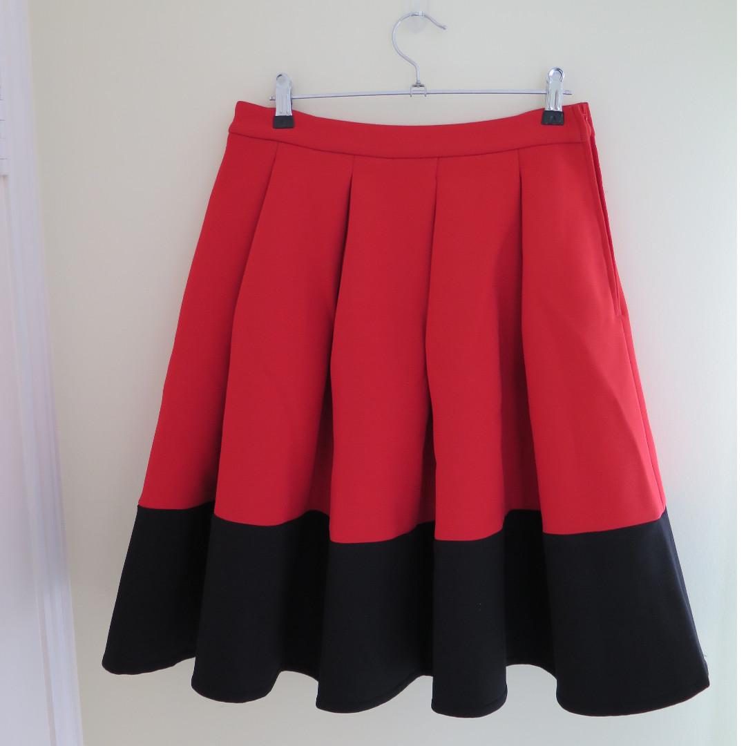ASOS A Line Skater Two Tone Skirt
