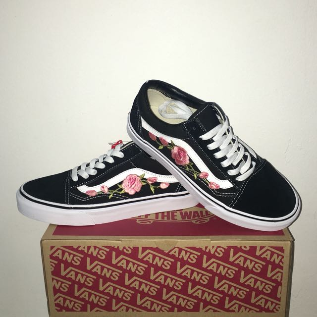Vans Roses Giallomare Skool eu Embroidered Old shxotQrBdC