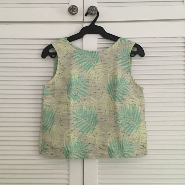 Backless Tropical Blouse