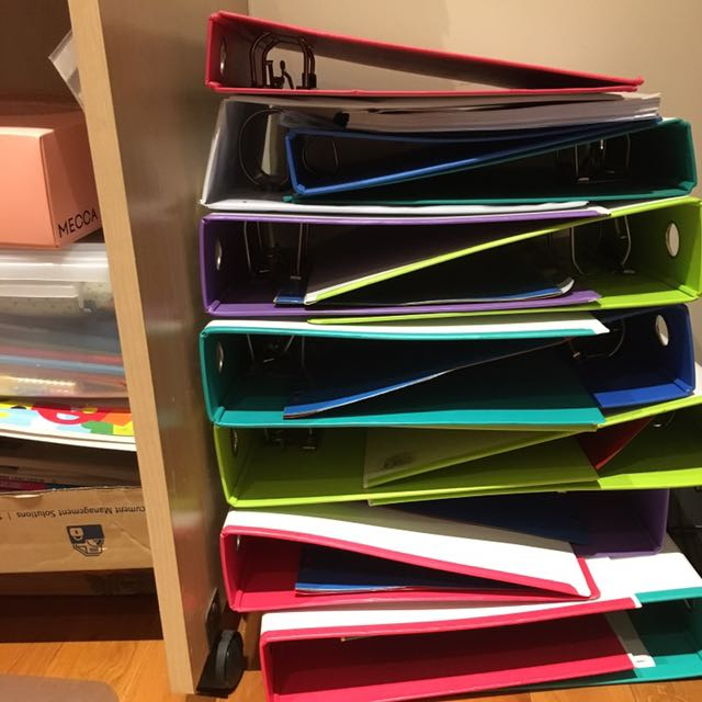 BANTEX 2 ring binders - assorted sizes and colours