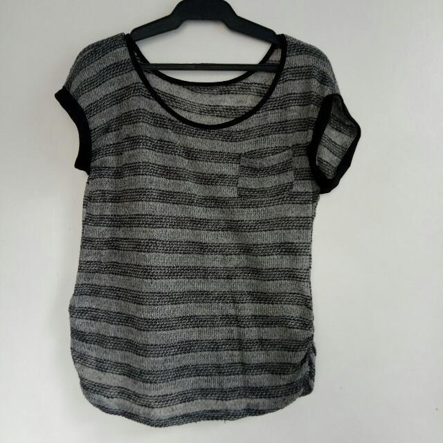 black gray stripes see-through