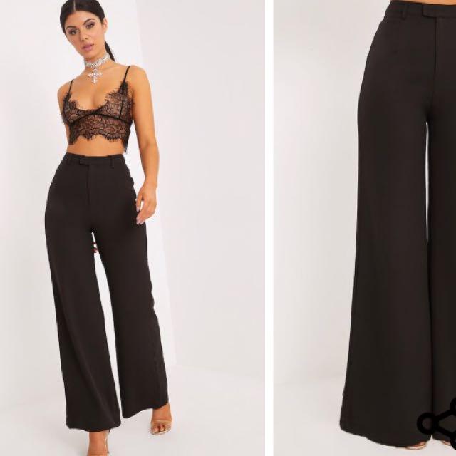 black high waisted pants size 8
