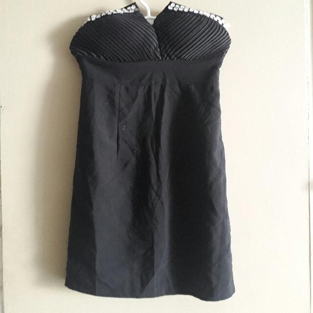 Black Jeweled Tube Dress