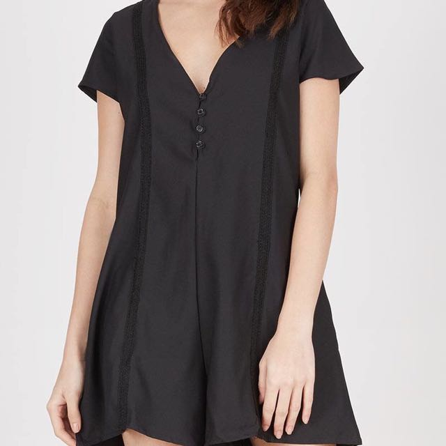 Black Short Jumpsuit (BERRYBENKA)