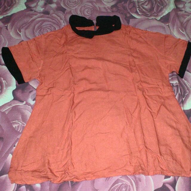 blouse peach