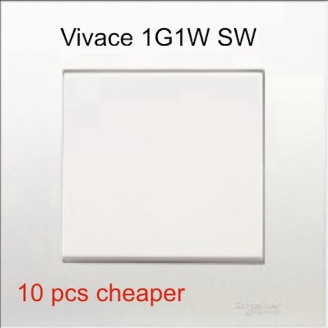BN Schneider Vivace 16AX 250V 1 Gang 1 Way Rocker Switch Online Purchase