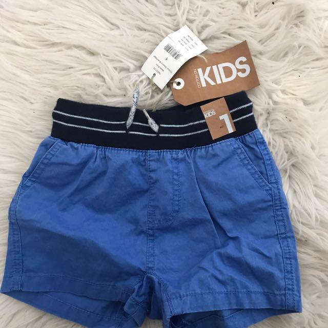 Boys Shorts Size 1 Never Worn