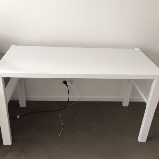 Brand New White Desk Table Adjustable Height