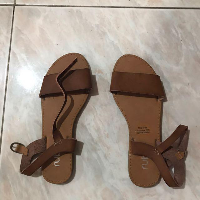 Brown Leather Rubi Sandals (UK 36)