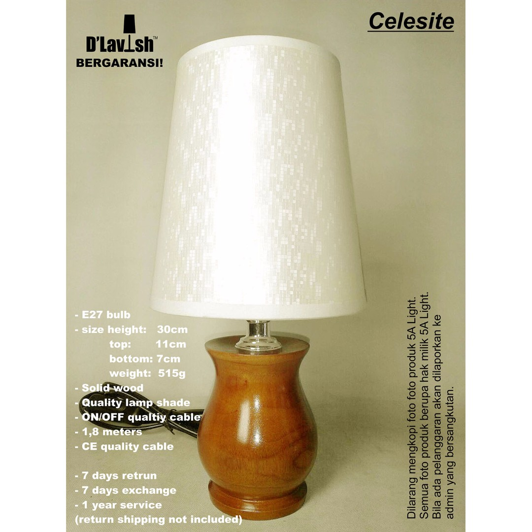 Celesite, Table Lamp, Lampu Meja, Lampu Hias