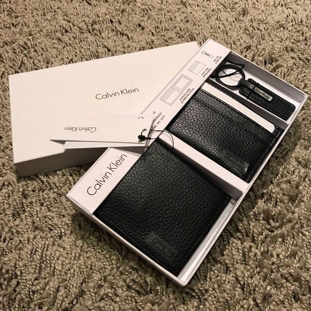 CK 皮夾 禮盒組
