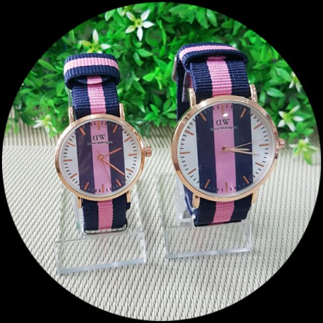 Couple Jam Tangan DW motif
