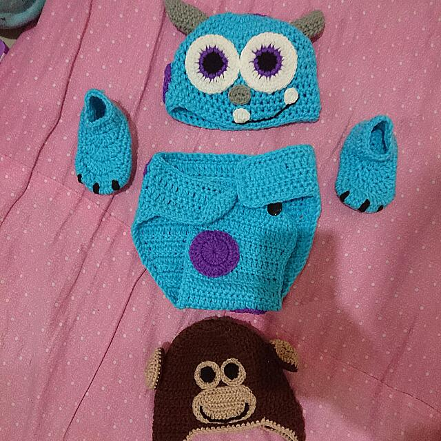 Crochet Costumes (Sully Monster And Monkey Hat)