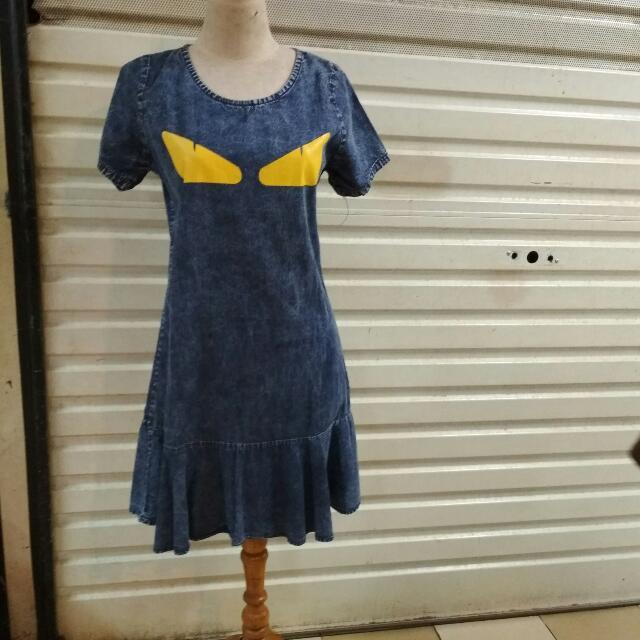 Dress Jeans Bahan Lembut /impor
