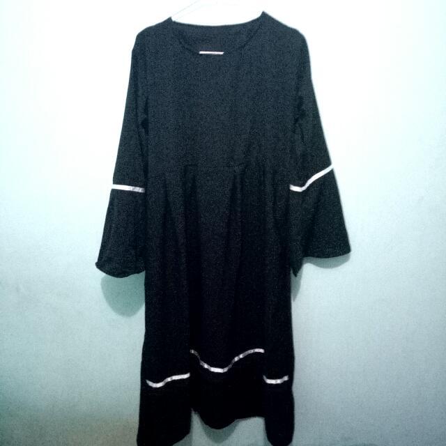 Dress midi tunik wolfis black