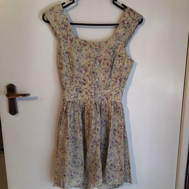Eleven Raindrops Floral Skater Dress Size XS