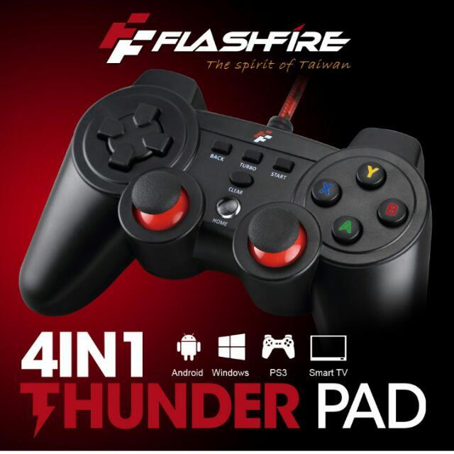 FlashFire Thunder Pad 4in1 PC X/D INPUT/PS3/Android 有線震動手把