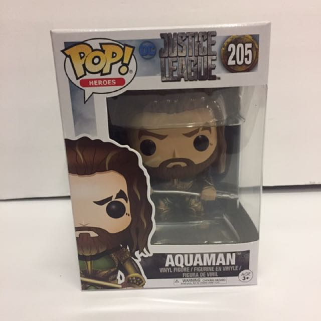 Funko Pop D.C. Comics Justice League Aquaman Vinyl Figure
