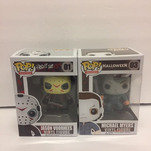 Funko Pop Horror Classics Michael Myers & Jason Voorhees Vinyl Figures