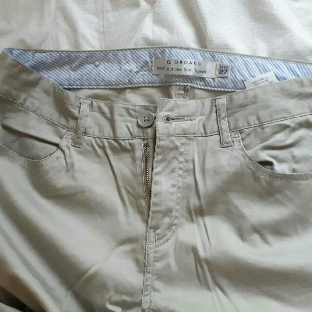 Giordano Khaki Preppy Pants