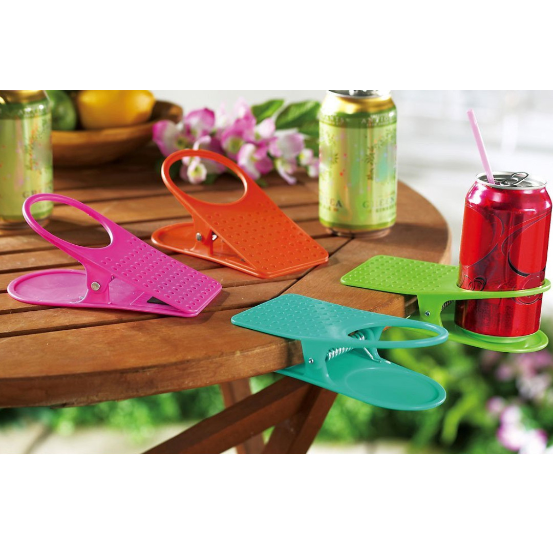 Glass Cup Holder Desk Table Clip Clamp