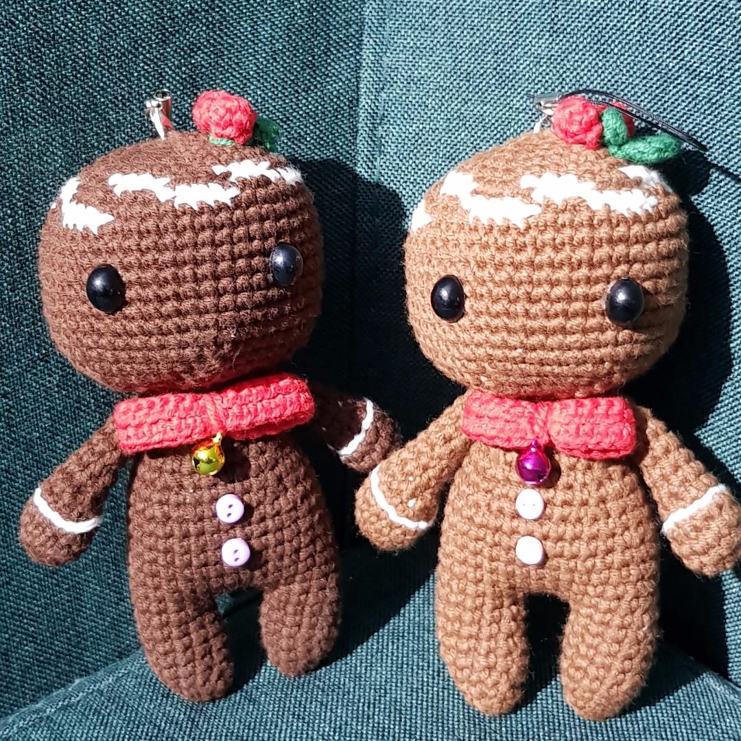 Handmade Crochet Soft Toy - Ginger Man Best Christmas Gift/ Birthday  Gift/Christmas Decoration