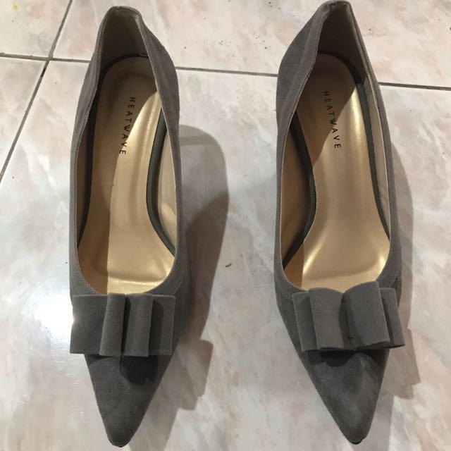 Heatwave Gray Formal Shoes (UK 36)