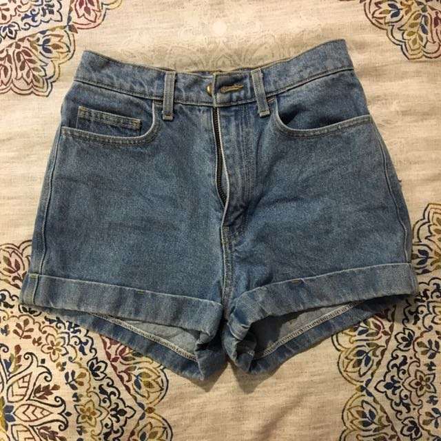 High-waisted American Apparel Jean Shorts