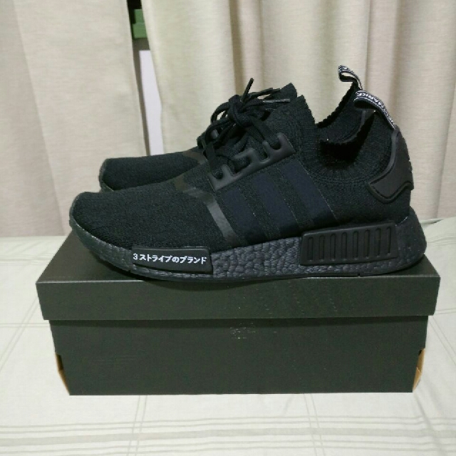 sports shoes 5e34f e9e96 In Stock $300] Nmd R1 PK Japan Boost Triple Black BZ0220 ...