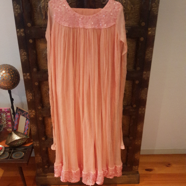 Indian/Pakistani 3 Pieces Traditional Peach Dress