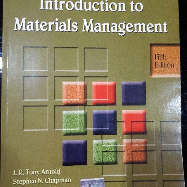 Introduction To Materials Management by J.R. Tony Arnold, Stephen N Chapman, R.V. Ramakrishnan