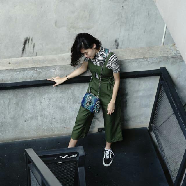Jumpsuit Green Size S