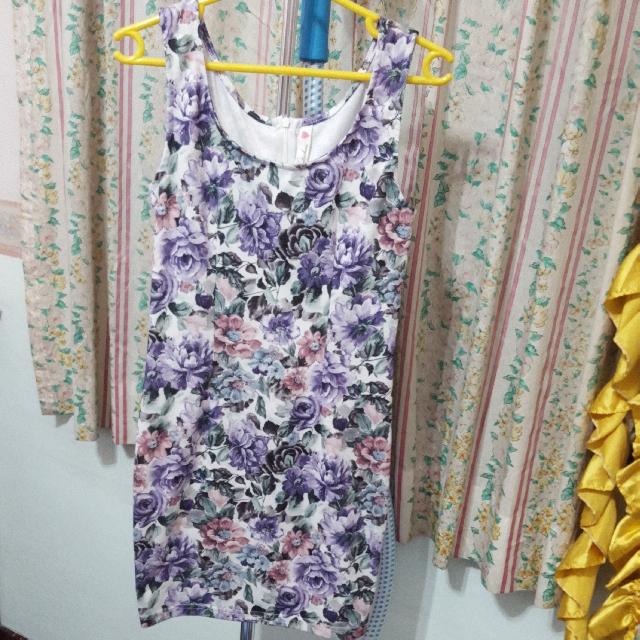 Kitschen Purple Floral Dress