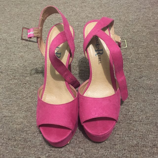 London Rebel Heels (Pink)