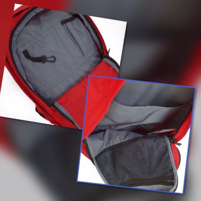 Nike Hayward 25M Red Black Lifestyle Backpack Laptop Bag Bookbag ... 84cd8fd05