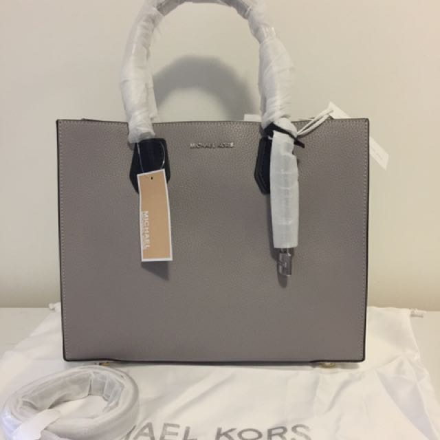 ... coupon for nwt authentic michael kors mercer large leather tote womens  fashion bags wallets on carousell ... ca1f3608ae