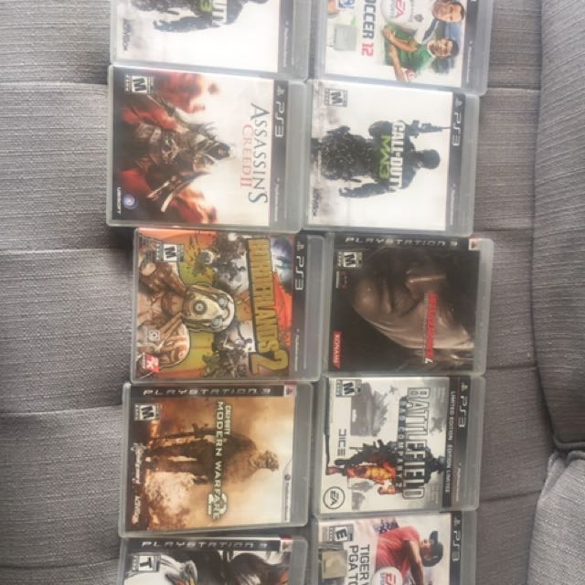 Pack Of Video Games For PS3