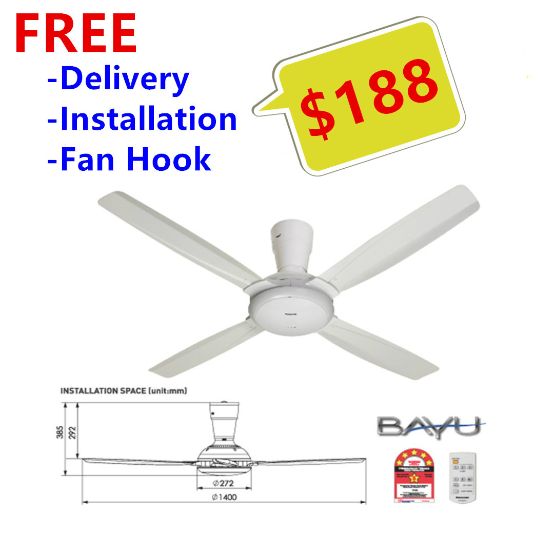 Panasonic 56 Quot Bayu 4 Ceiling Fan Free Delivery Free