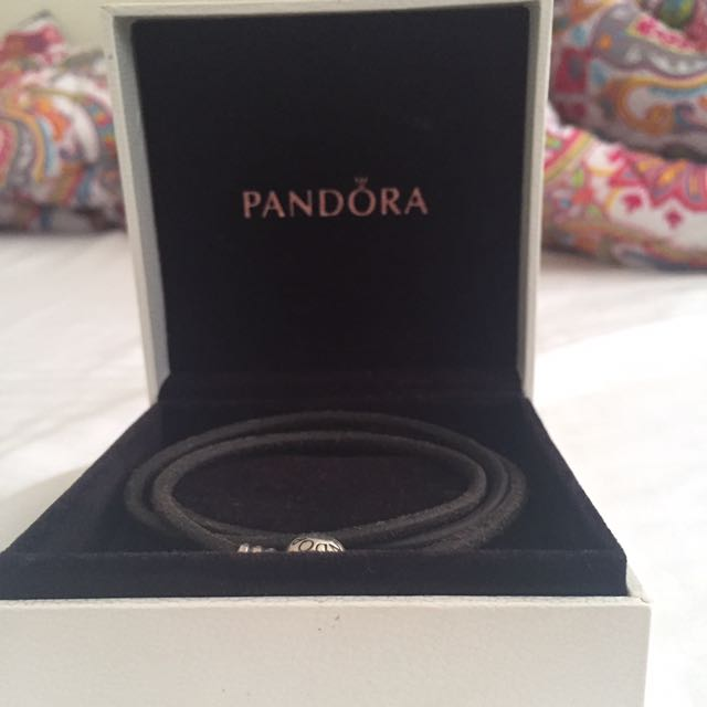 Pandora Brown Leather Bracelet