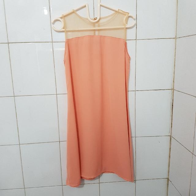 Peach Tied Dress